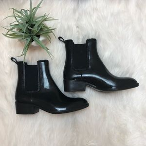 Jeffrey Campbell Black Chelsea Rain Boots Sz 8